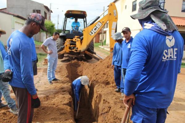 SAAE beneficia cerca de 50 famílias oeirenses em nova etapa de expansão da rede de esgoto